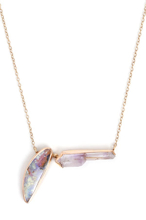Opal and Amethyst Necklace