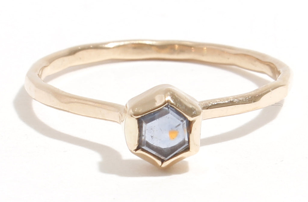 Hexagonal Sapphire Slice Ring - Melissa Joy Manning Jewelry