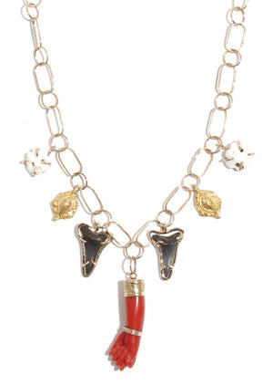 Fico Mano Multi Charm Necklace