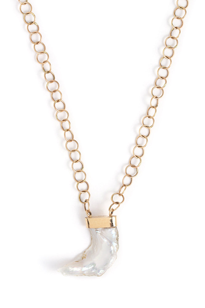American Pearl Horn Pendant Necklace - Melissa Joy Manning Jewelry