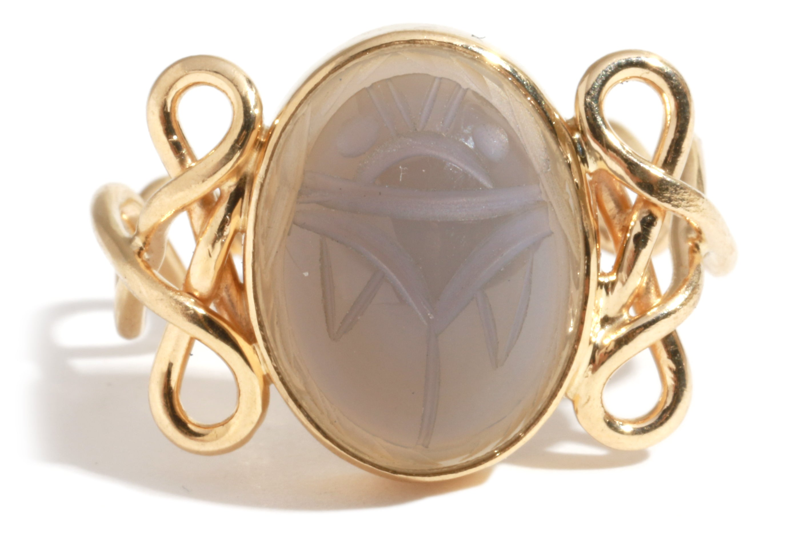 Victorian Scarab Cameo Brooch Ring - Melissa Joy Manning Jewelry