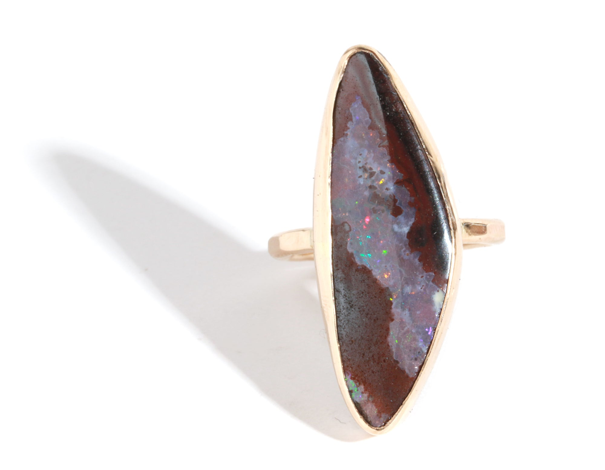 Boulder Opal Ring - Melissa Joy Manning Jewelry