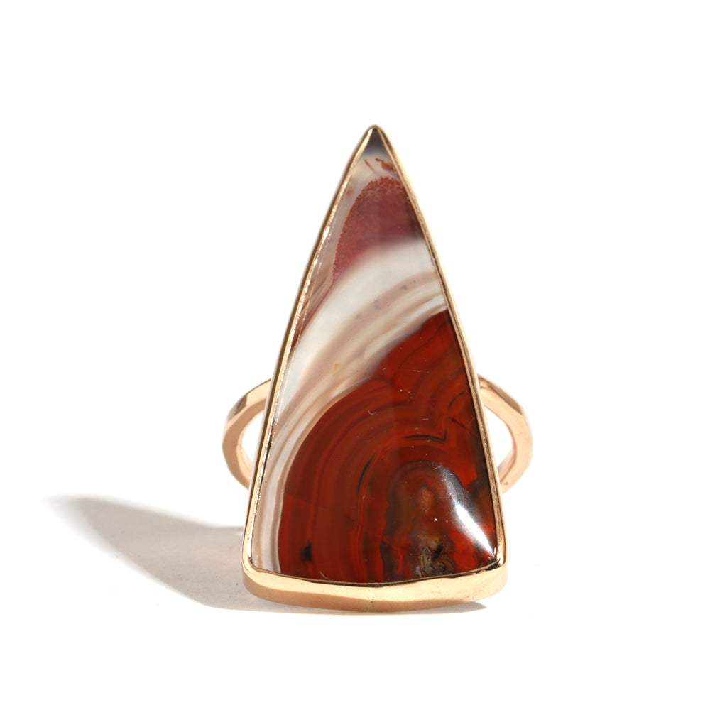 Striped Laguna Agate Ring