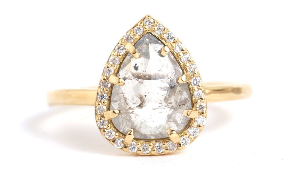 Pear Shaped Canadian Diamond Ring - Melissa Joy Manning Jewelry