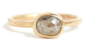 Rustic Champagne Diamond Ring - Melissa Joy Manning Jewelry