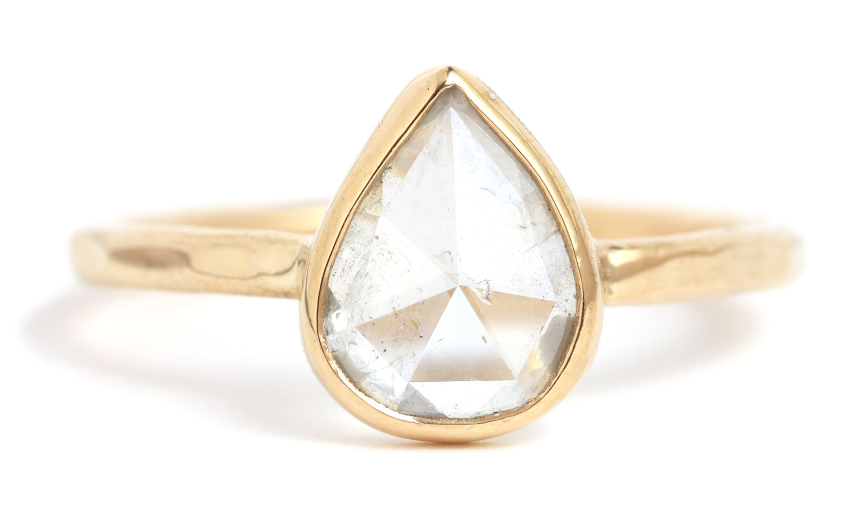Clear Rosecut Diamond Ring - Melissa Joy Manning Jewelry