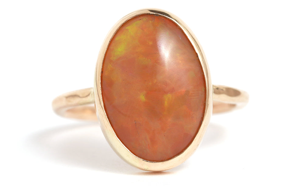 Smoked opal ring