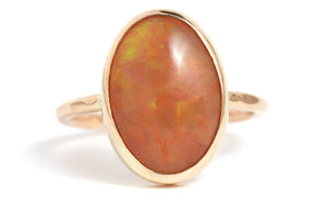Orange Smoked Opal Ring