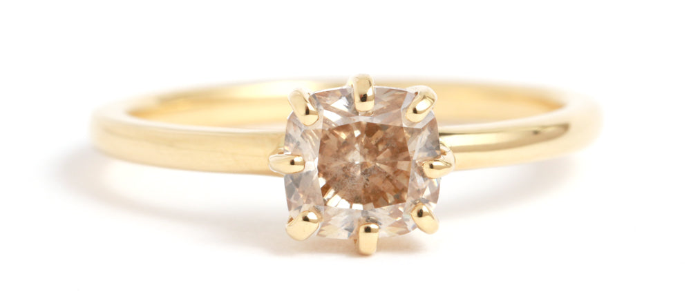 Champagne Diamond Ring - Melissa Joy Manning Jewelry