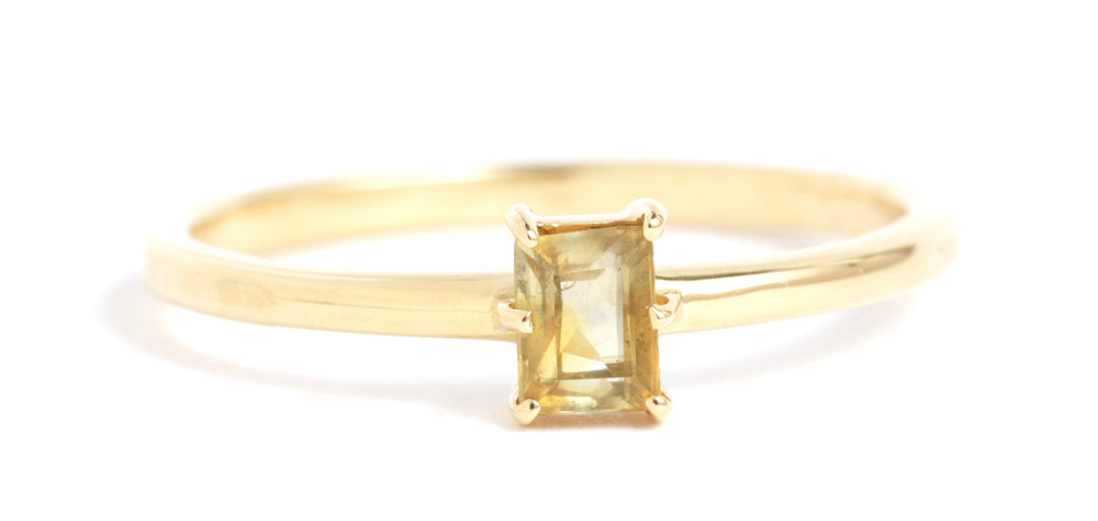 Rectangular Montana Sapphire Ring - Melissa Joy Manning Jewelry