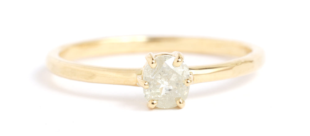 Rustic Rosecut Diamond Ring - Melissa Joy Manning Jewelry