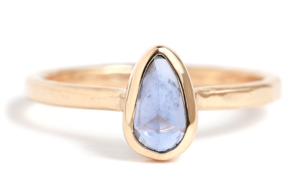Pear Shaped Blue Sapphire Ring