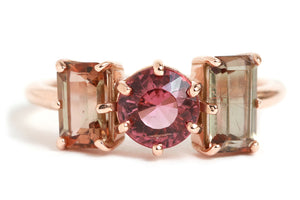 Pink Tourmaline and Andalusite Ring - Melissa Joy Manning Jewelry