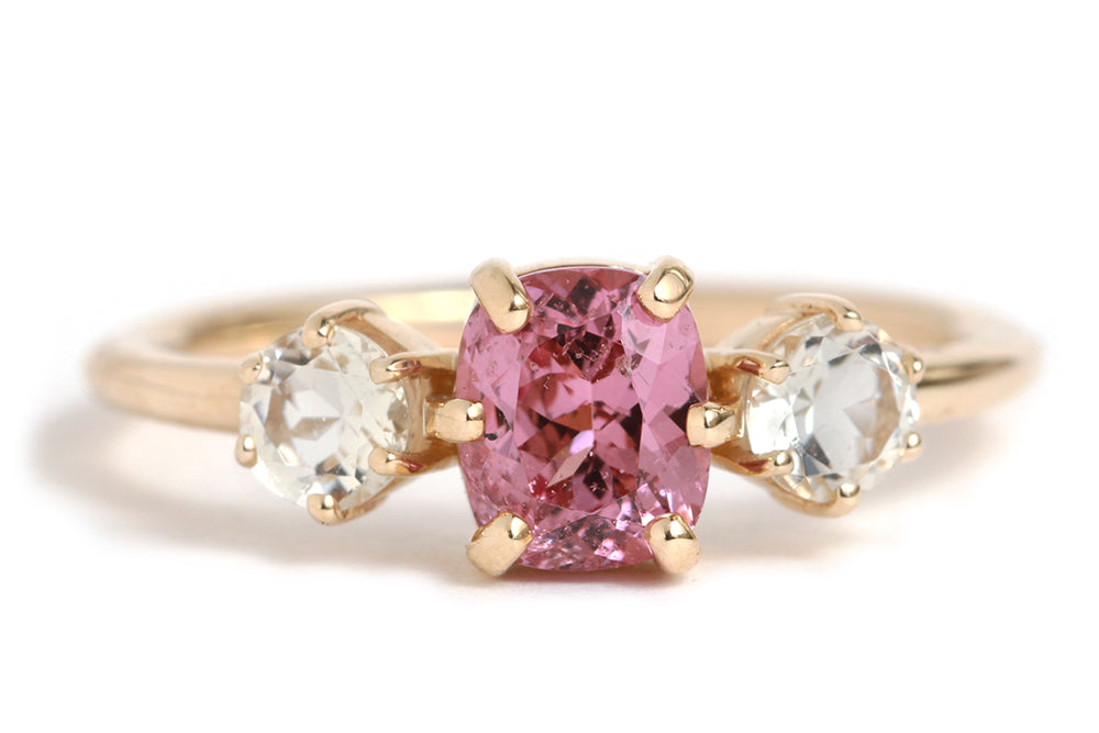 Spinel and Oregon Sunstone Ring - Melissa Joy Manning Jewelry
