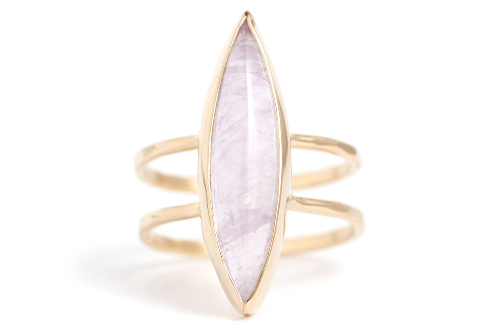 Amethyst Double Band Ring - Melissa Joy Manning Jewelry