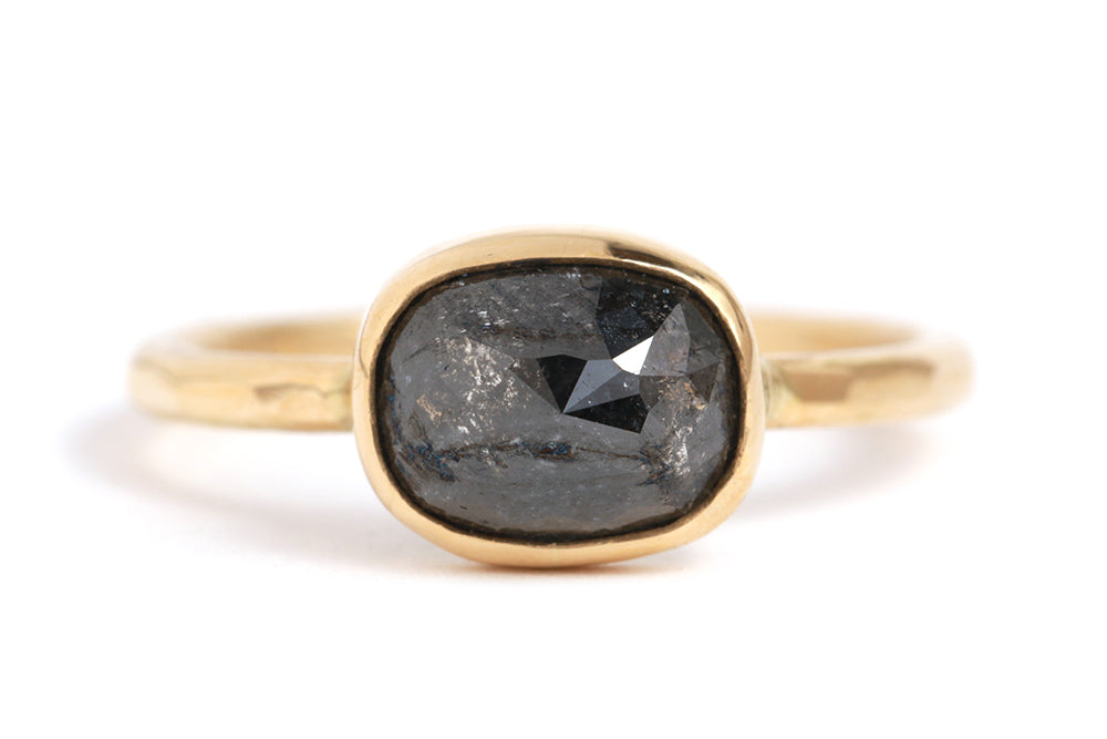 Black Rosecut Diamond Ring - Melissa Joy Manning Jewelry