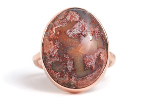 Mexican Pink Jelly Opal Ring