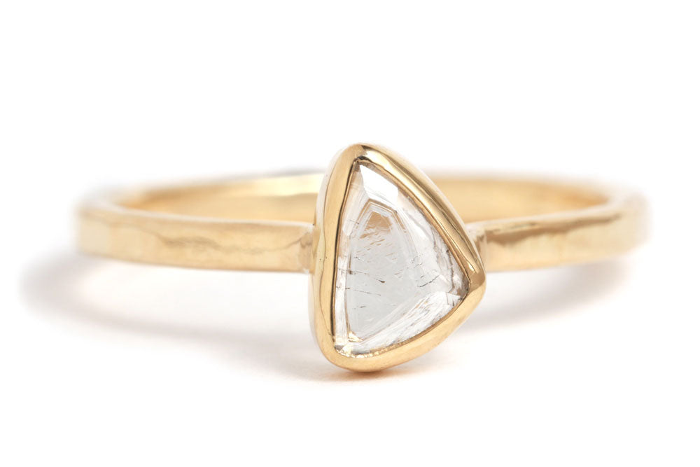 Raw Freeform Diamond Ring