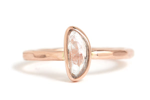 Freeform Pale Pink Sapphire Slice Ring - Melissa Joy Manning Jewelry