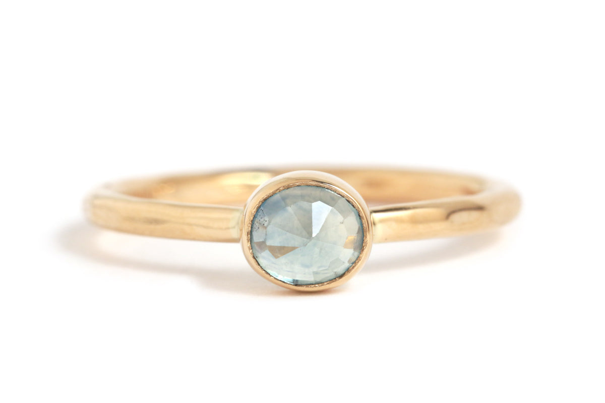 Pale Blue Montana Sapphire Oval Ring - Melissa Joy Manning Jewelry