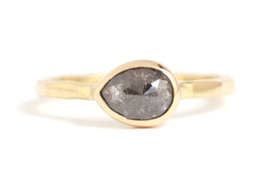 Grey pear shape diamond ring - Melissa Joy Manning Jewelry