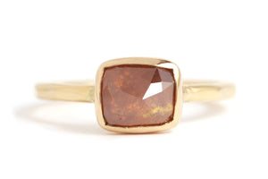 Red square diamond ring - Melissa Joy Manning Jewelry