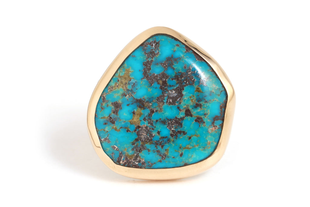 Sleeping Beauty Turquoise Ring - Melissa Joy Manning Jewelry