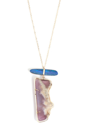 Amethyst and Opal Necklace - Melissa Joy Manning Jewelry