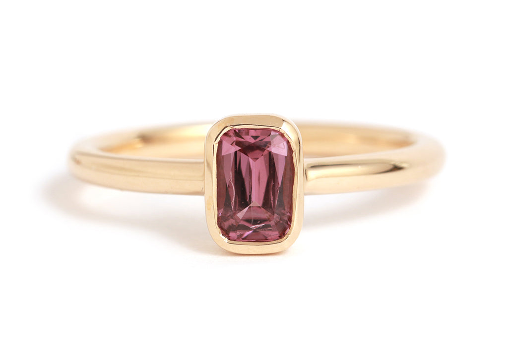 Bezel Set Vietnamese Spinel Ring - Melissa Joy Manning Jewelry
