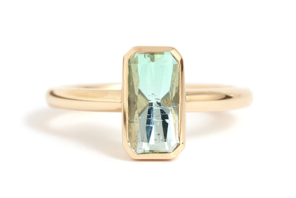 Rectangular Tourmaline Ring - Melissa Joy Manning Jewelry