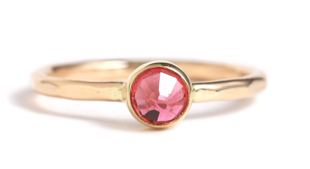 Rosecut Ruby ring