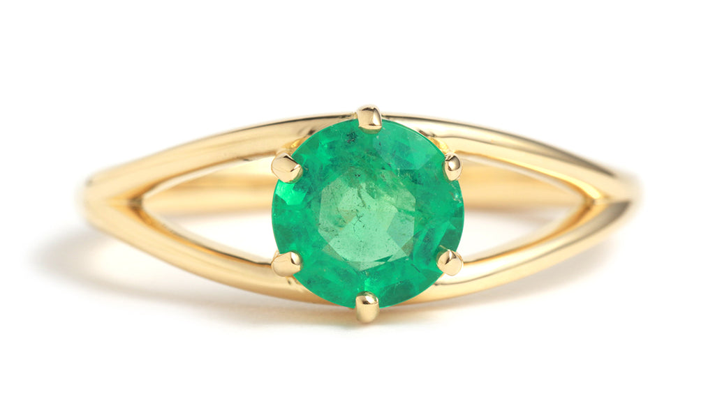 Round Emerald Eye Ring