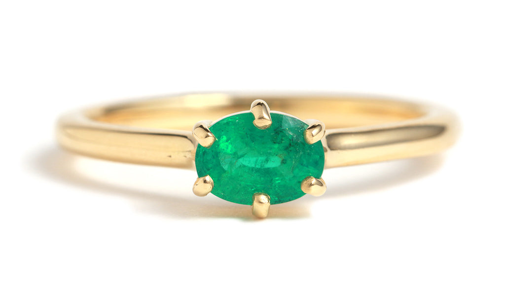 Oval Cut Emerald Ring
