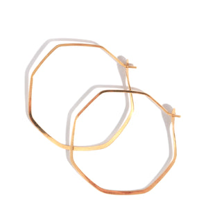 Octagon hoops - 1.5 inch - Melissa Joy Manning Jewelry