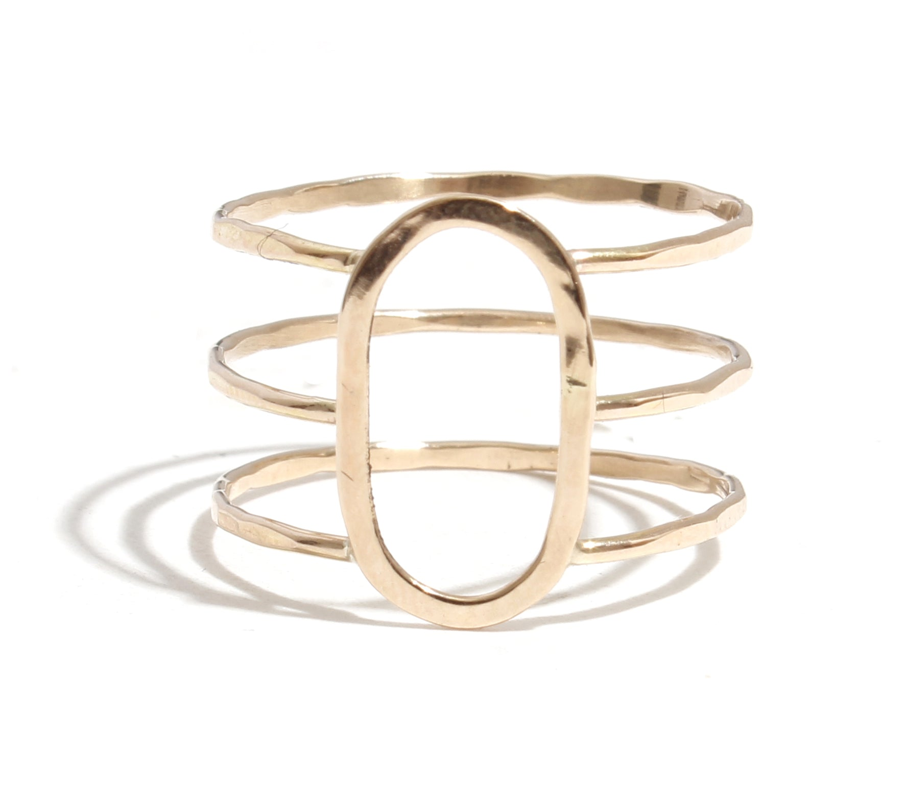 Three Band Oval Ring - Melissa Joy Manning Jewelry