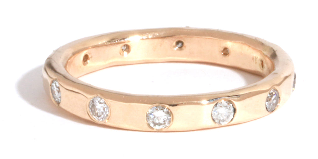2mm White Diamond Band - Melissa Joy Manning Jewelry