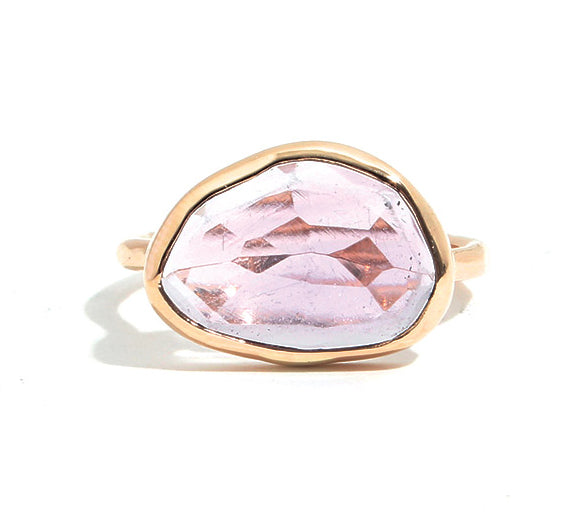 Bezel Set Amethyst Ring - Melissa Joy Manning Jewelry