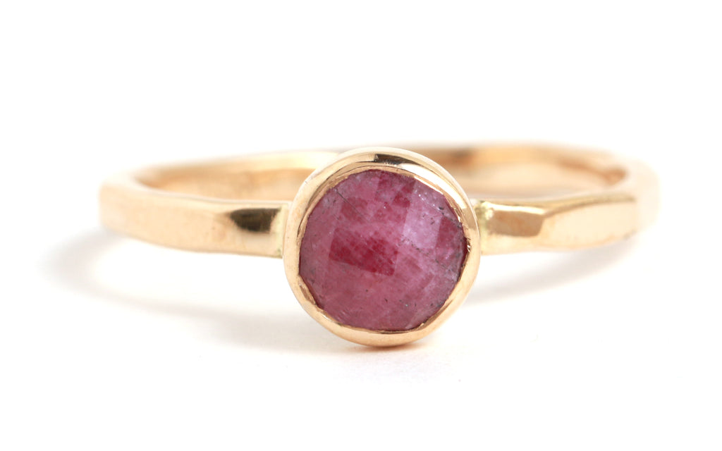 Round Ruby Ring - Melissa Joy Manning Jewelry