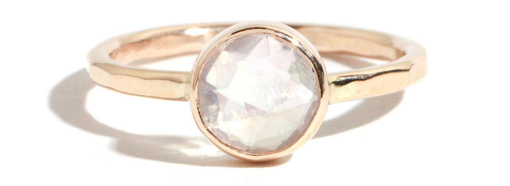 Rainbow Moonstone Ring - Melissa Joy Manning Jewelry