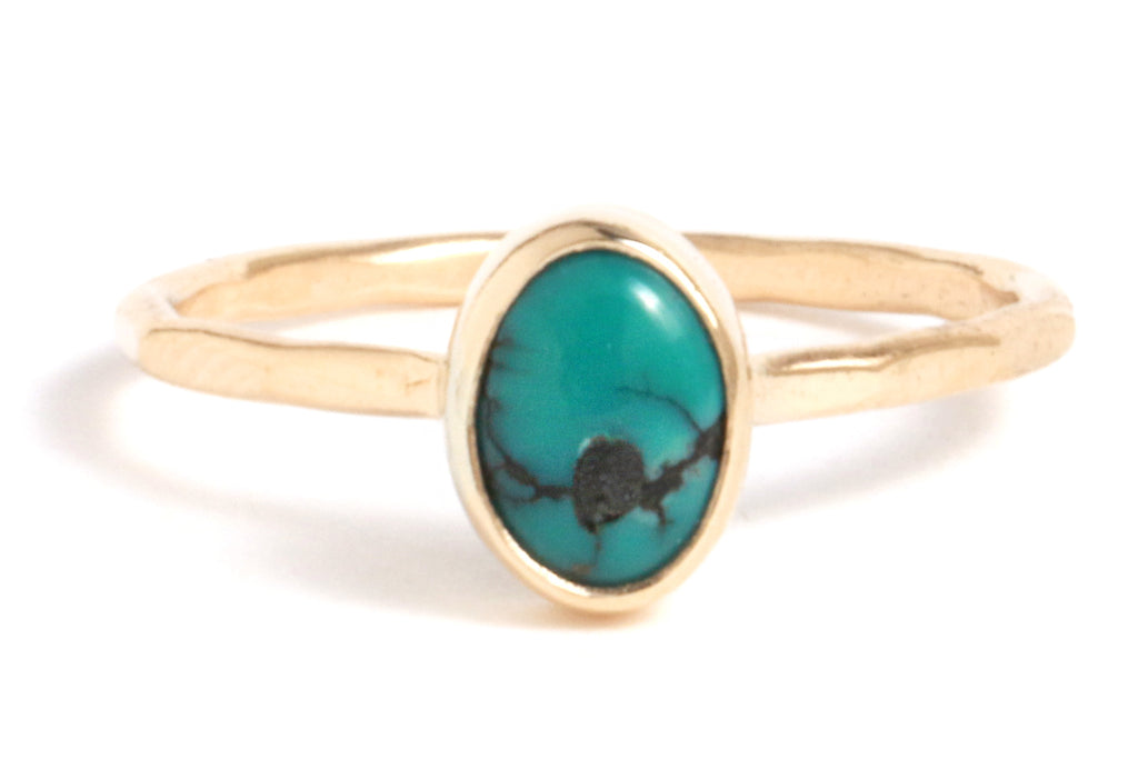 Small Oval Turquoise Ring - Melissa Joy Manning Jewelry