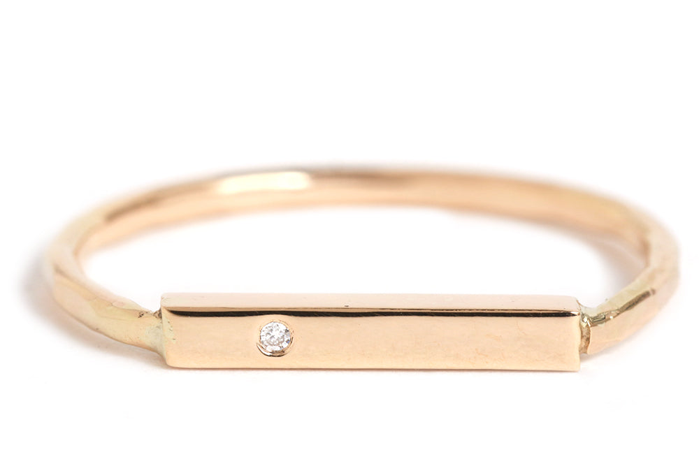 Diamond Bar Ring - Melissa Joy Manning Jewelry