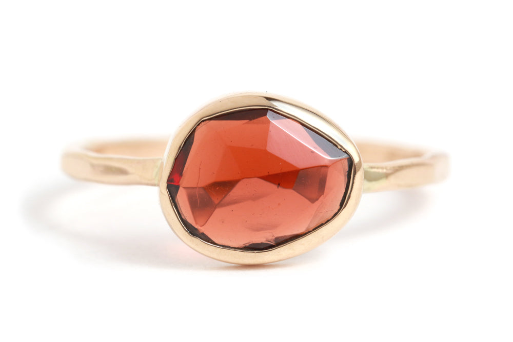 Garnet Ring - Melissa Joy Manning Jewelry