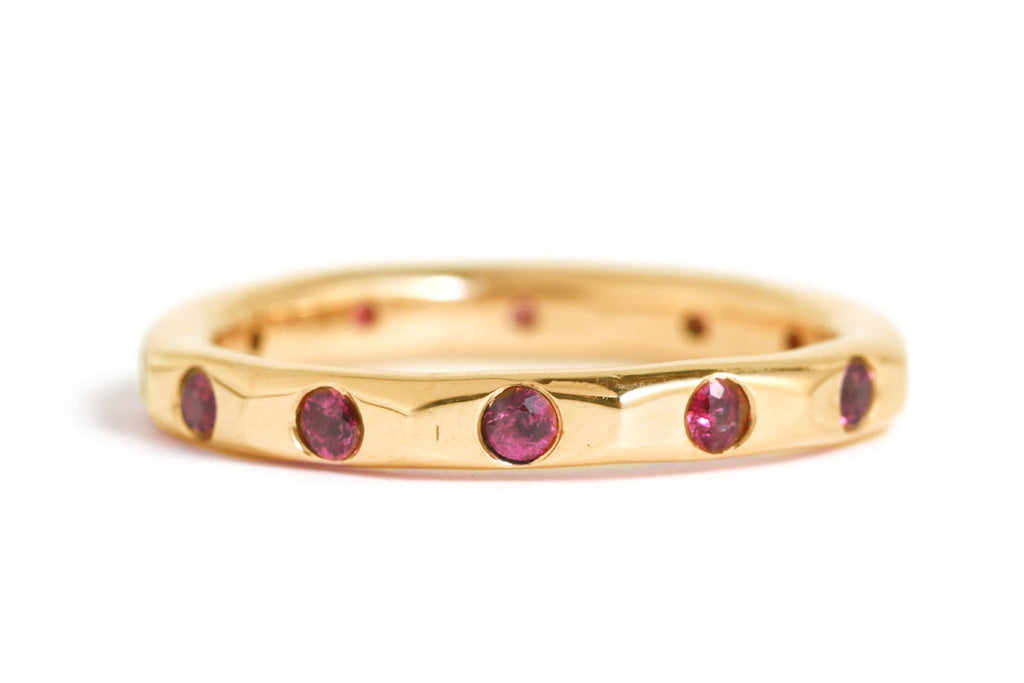 Copy of 2mm Ruby Band - 14 Karat Yellow Gold
