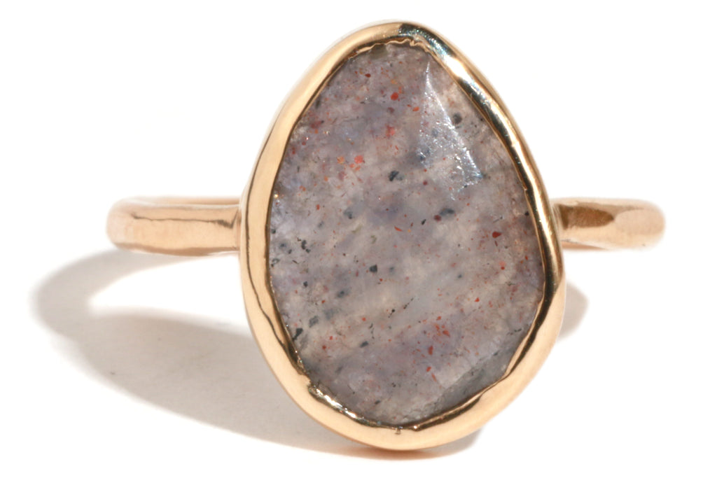 Vertical Iolite Ring - Melissa Joy Manning Jewelry