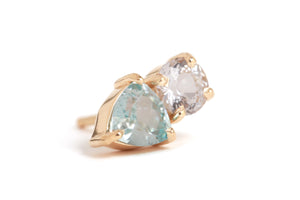 Zircon and danburite stud - half pair - Melissa Joy Manning Jewelry