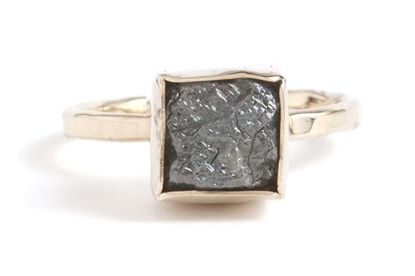Square Rough Diamond Ring - Melissa Joy Manning Jewelry