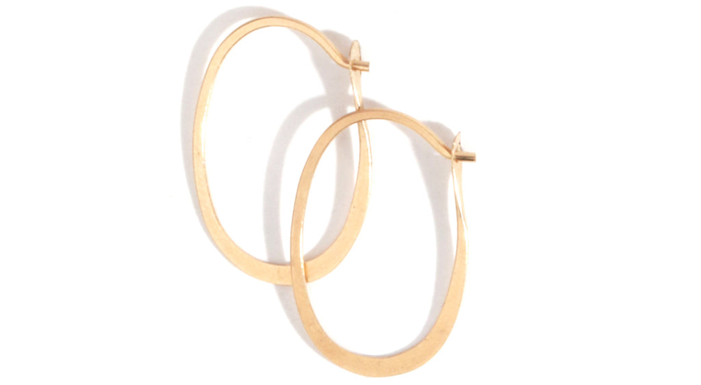 Oval hoops - 3/4 inch - Melissa Joy Manning Jewelry
