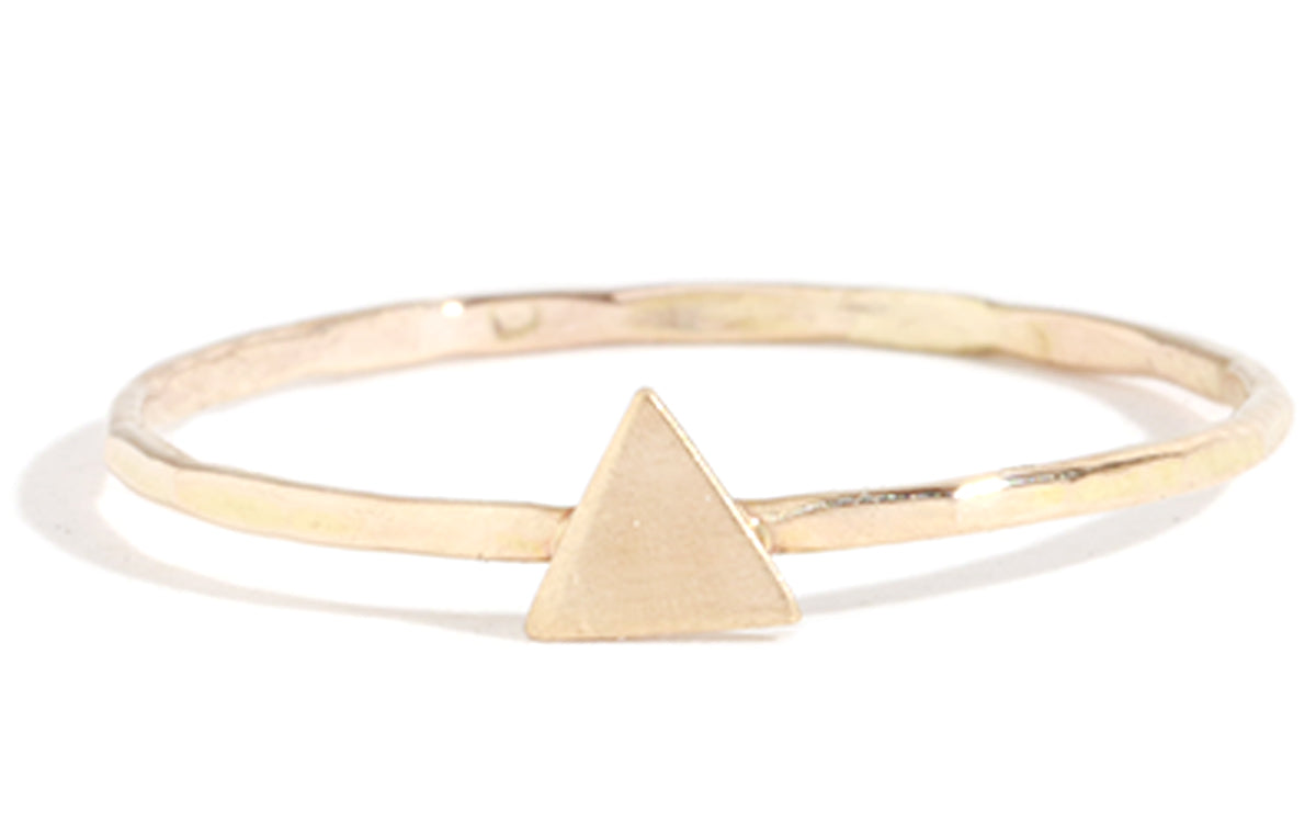 Solid triangle ring - Melissa Joy Manning Jewelry