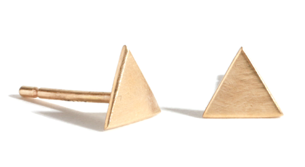 Solid triangle stud earrings - Melissa Joy Manning Jewelry
