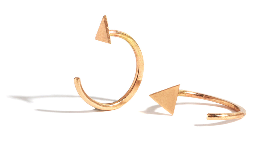Solid triangle hug earrings